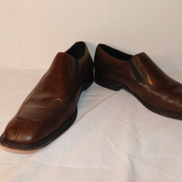 Bostonian Luxe Leather Brown Loafer Size 10.5M